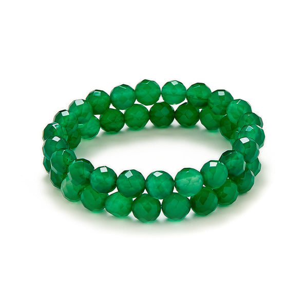 Dark Green Bracelet Stack