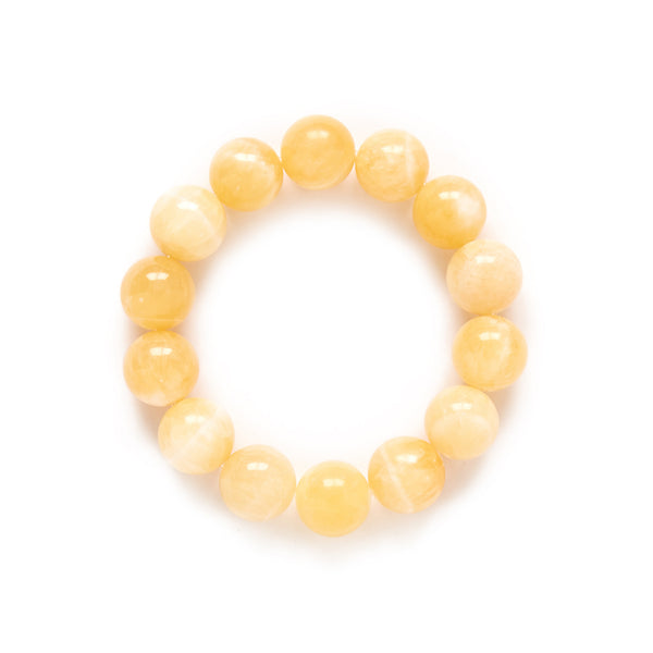 Beaded Yellow Jade Bracelet
