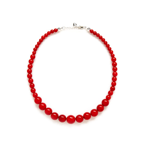 Petite Red Jade Necklace