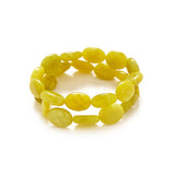 Yellow Green Jade Bracelet Stack
