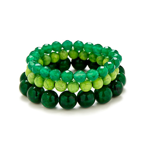 Green Goddess Bracelet Stack