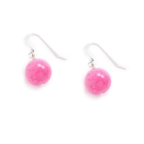 Purple Pink Drop Earrings