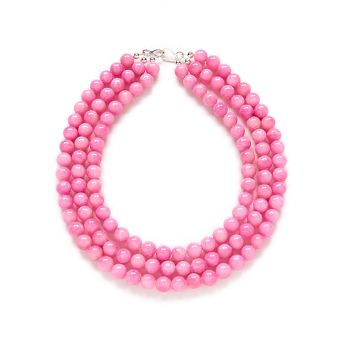 Peony Pink Statement Necklace