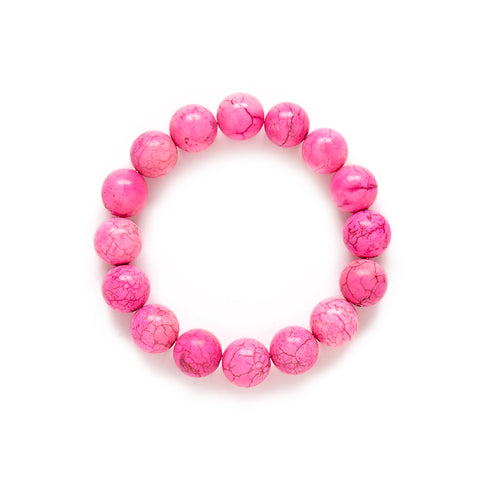 Pink Beaded Bracelet by Kluster Shop