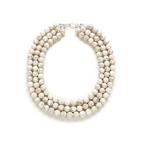 Luxe Eggshell Necklace in Ivory Magnesite