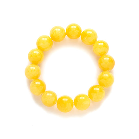 Chunky Yellow Beaded Bracelet