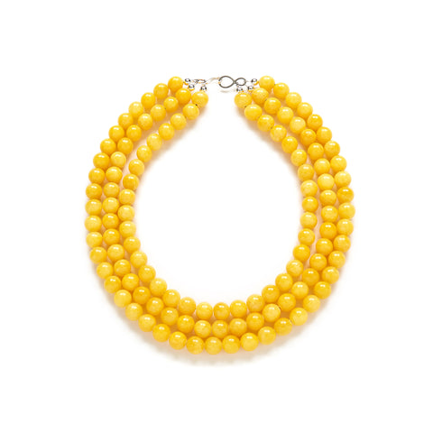 Bright Yellow Statement Necklace