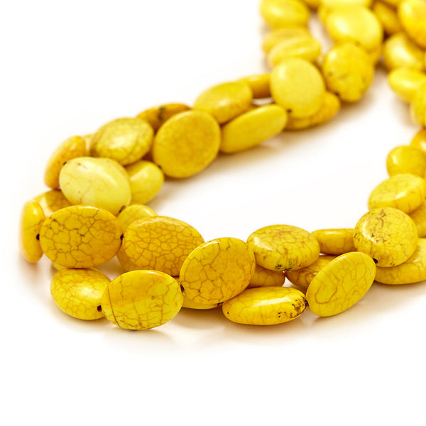 bright yellow chunky necklace