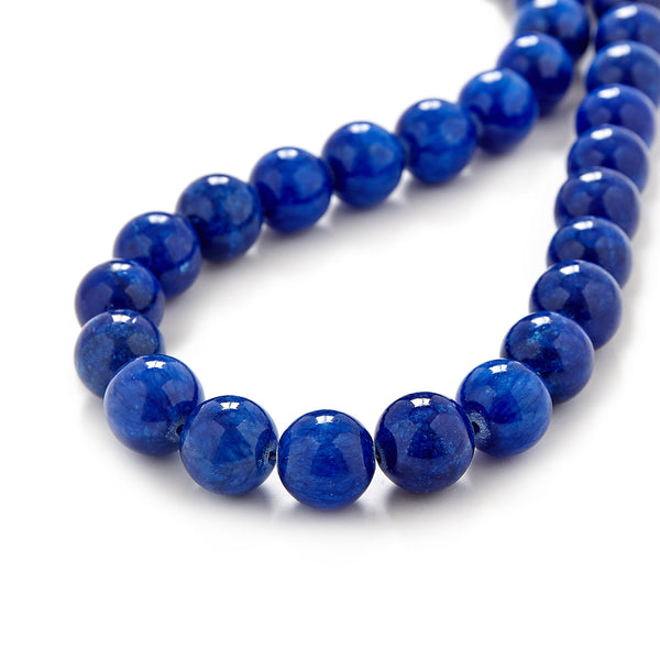 Chunky Blue Jade Necklace