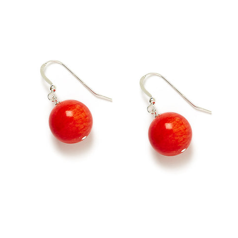 Fiesta Flame Earrings in Red Jade