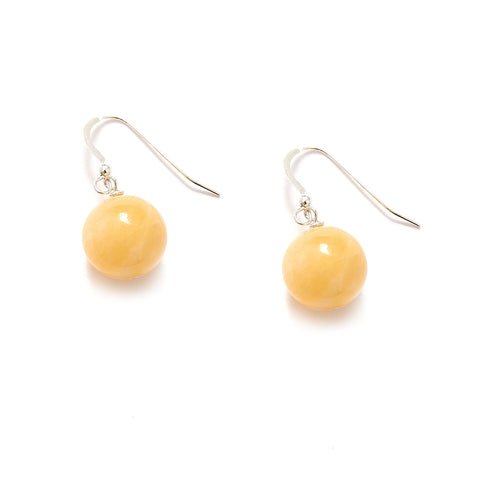 Pale Yellow Jade Earrings
