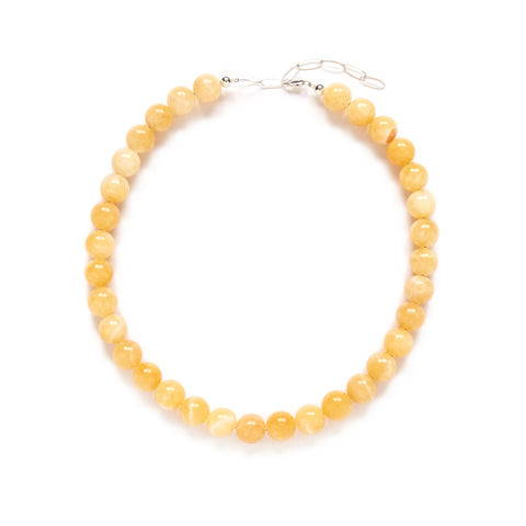 Light Yellow Honey Jade Necklace
