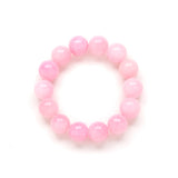 Chunky Cotton Candy Bracelet in Pink Jade