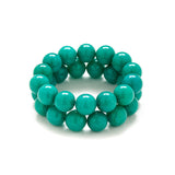 Tropical Teal Beaded Bracelet in Turquoise Jade