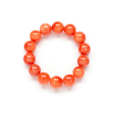 Orange Bracelet - Gemstone Stretch Stack - Orange Jade