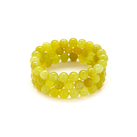 Petite Olive Jade Bracelet in Light Green
