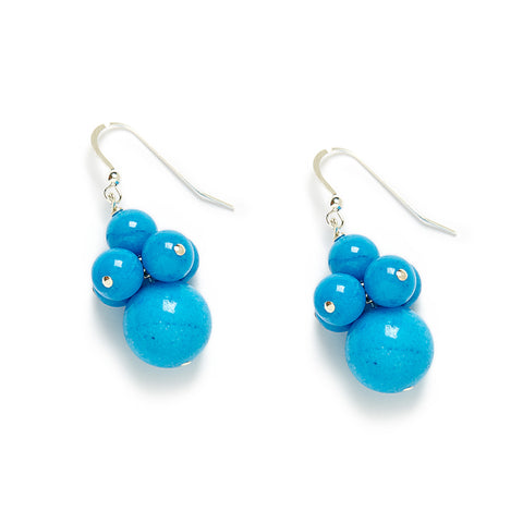 Riviera Cluster Earrings in Blue Jade