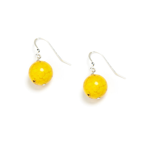 Neon Yellow Drop Earring