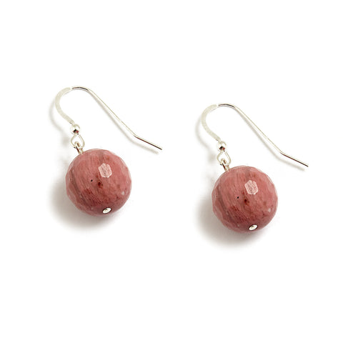 Dusty Pink Earrings in Rhodonite