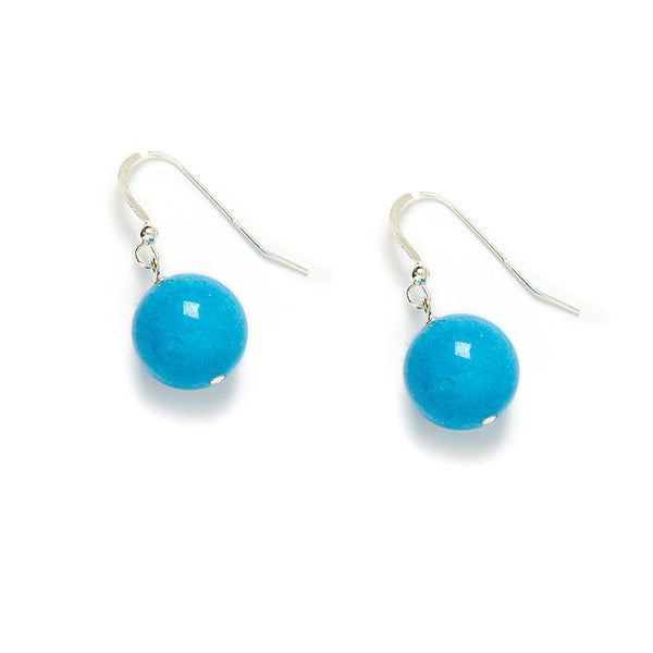 Riviera Earrings in Blue Jade