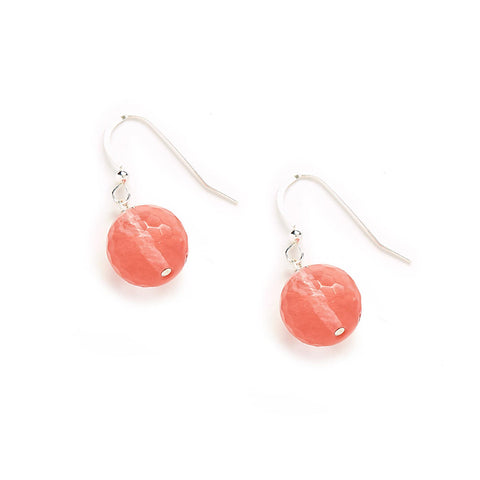 Rose Earrings in Pink Quartz