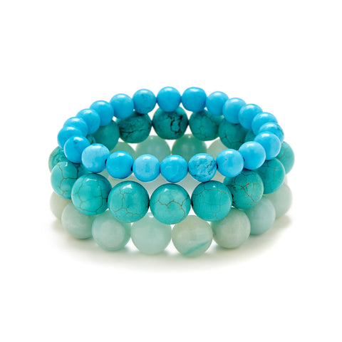 Chunky Turquoise Bracelet Stack | Handmade in the USA
