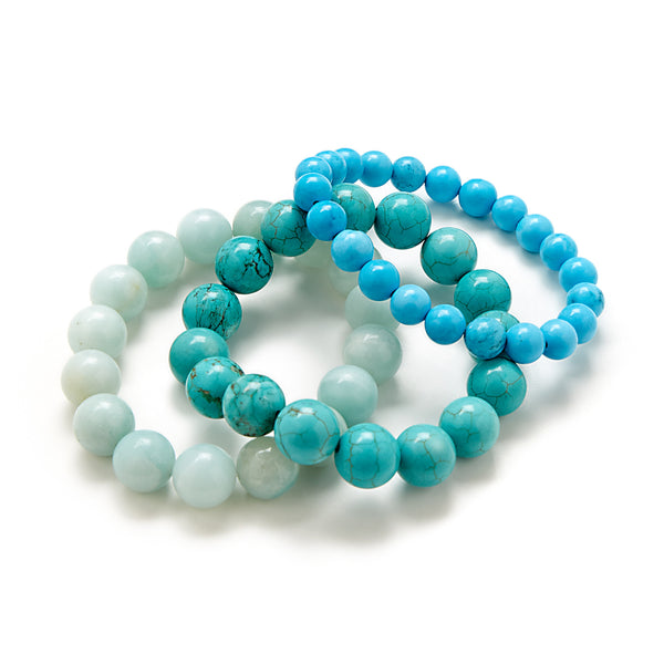 Beaded Turquoise Bracelet Collection