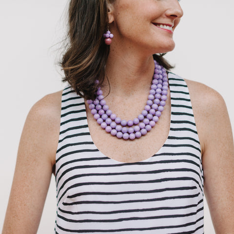 Luxe Lavender Necklace in Purple Jade