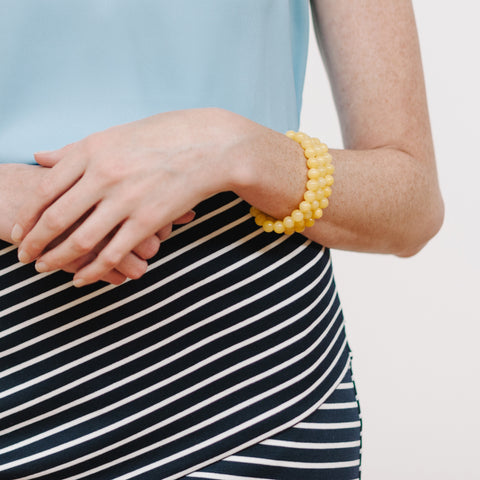 Petite Sunshine Bracelet in Yellow Jade