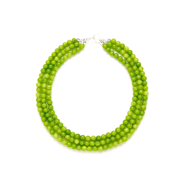 Mini Luxe Galapagos Necklace in Green Jade