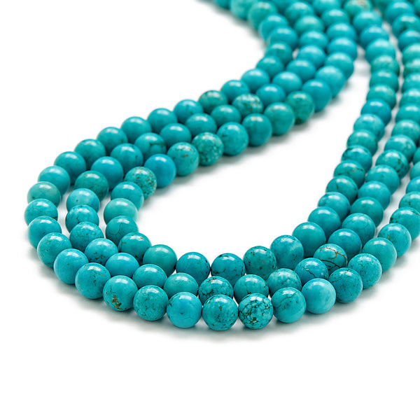Mini Luxe Peacock Necklace in Turquoise Magnesite