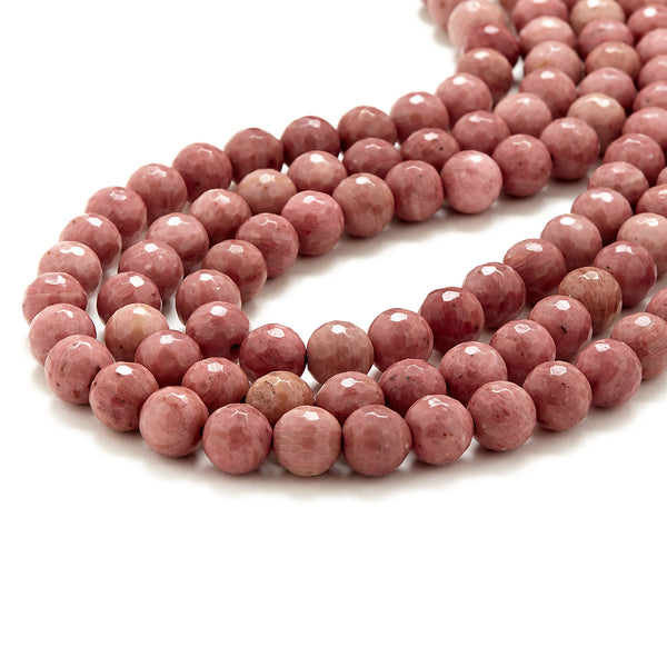 Luxe Dusty Pink Necklace in Rhodonite