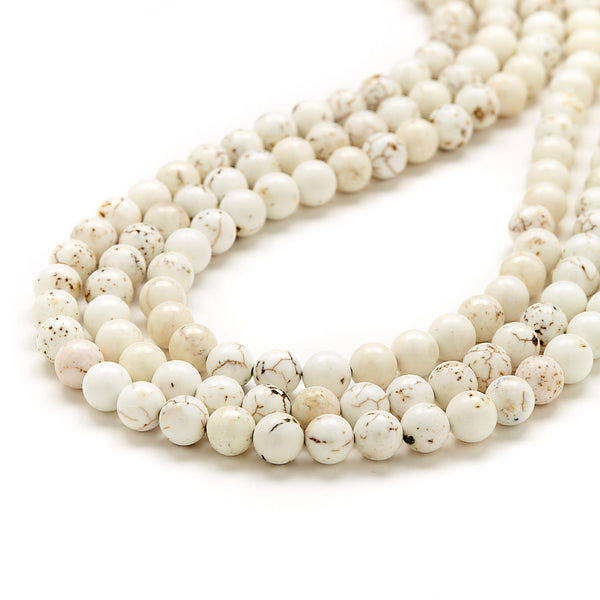 Mini Luxe Eggshell Necklace in Ivory Magnesite