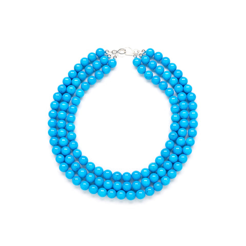 Luxe Riviera Statement Necklace in Blue Jade