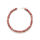 Chunky Dusty Pink Necklace in Rhodonite