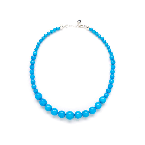Petite Riviera Necklace in Blue Jade