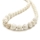 Petite Eggshell Necklace in Ivory Magnesite