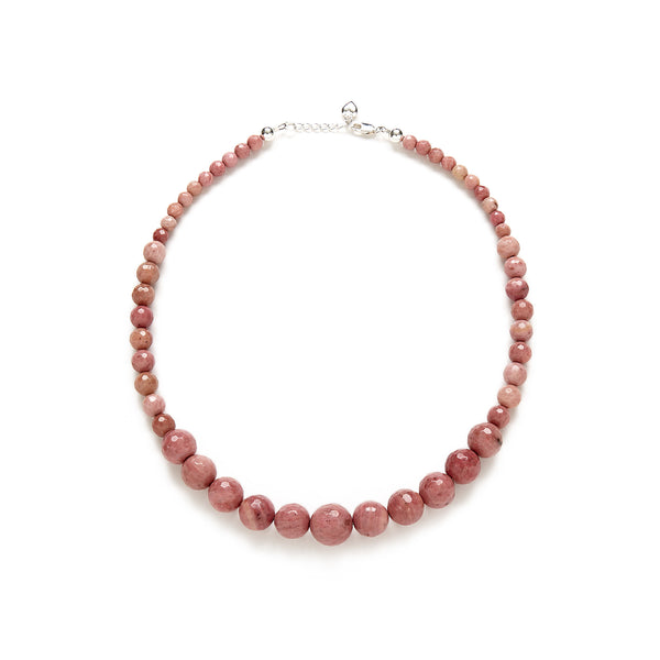 Petite Dusty Pink Necklace in Rhodonite