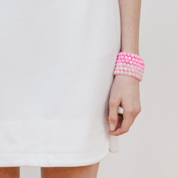 Petite Tickled Pink Bracelet in Rose Magnesite