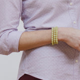Yellow Green Bracelet Stack