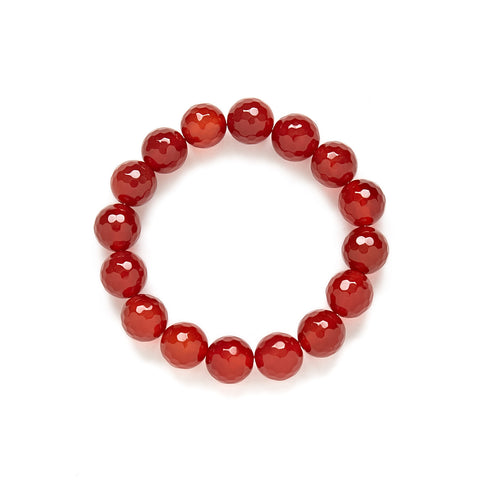 Sienna Bracelet in Red Carnelian