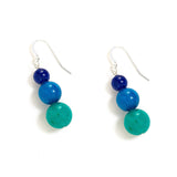 Festive Ombre Earrings in Cool Jade