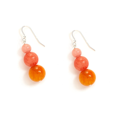 Festive Ombre Earrings in Warm Jade