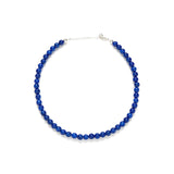 Mini Cobalt Jade Necklace in Indigo Blue
