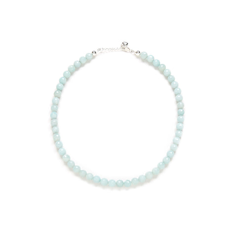 Mini Amazonite Necklace in Sky Blue