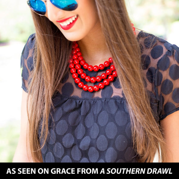 Luxe Merry Cherry Necklace in Red Jade