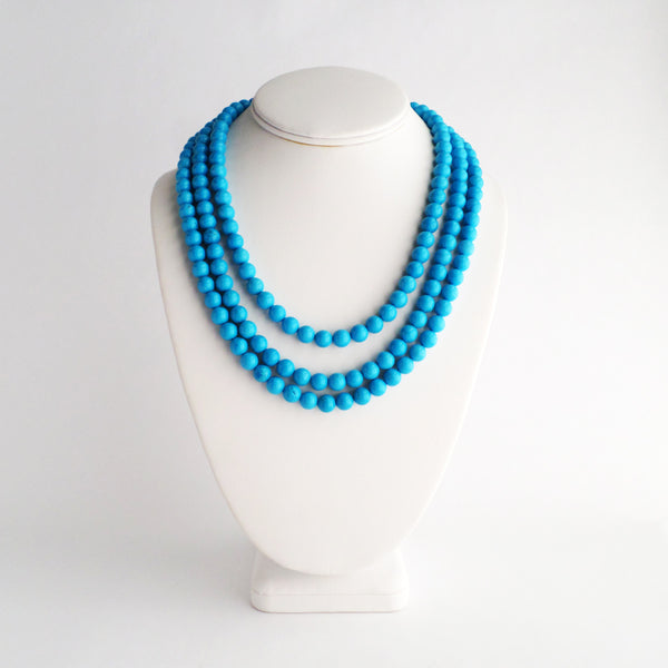 Mini Luxe Robin's Egg Necklace in Blue Magnesite