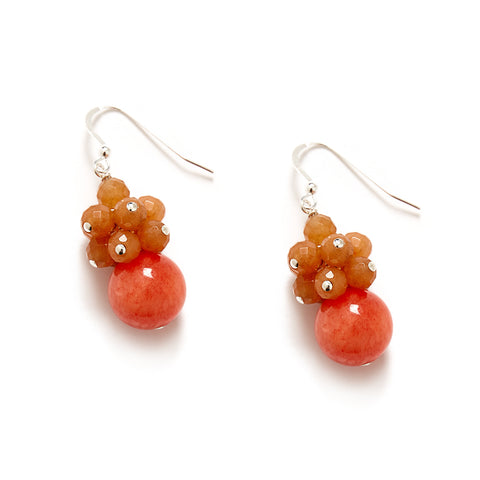Orange Cluster Earring at Kluster Shop