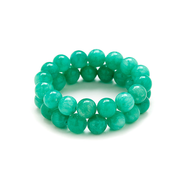 Sea Glass Beaded Bracelet in Jade