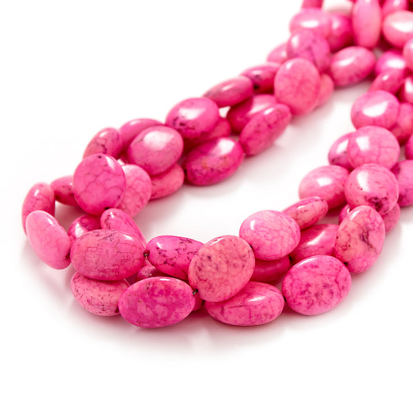 Hot Pink Magnesite Necklace by Kluster Shop